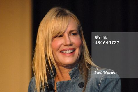 Daryl Hannah speaks at the 2014 VegFest on April 13, 2014 in Novi, Michigan. (Photo by Paul Warner/Getty Images)