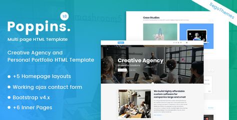 Poppins — Creative Agency & Portfolio Template | Stylelib