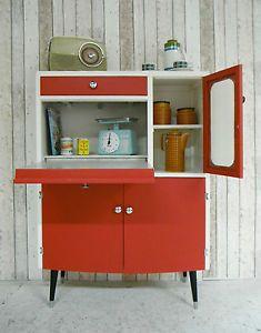 Vintage Retro Kitchen Cabinet Cupboard Larder Kitchenette 50s 60s Mid Century Ebay Cupboards Pinterest And