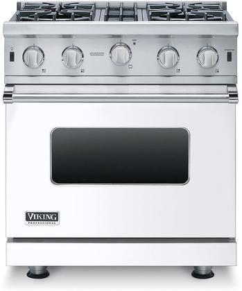 Vgic53014bwhlp 30 Professional 5 Series White Liquid Propane Gas Range With 4 Stainless Steel Open In 2020 Viking Stove Vikings Oven Range