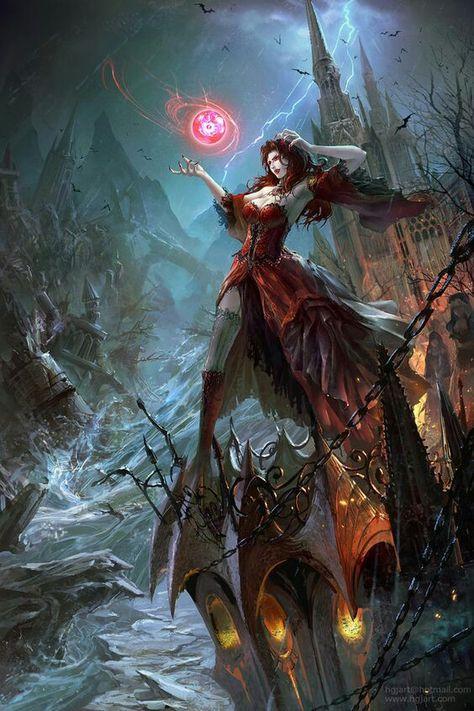 Vampire countess   Undead   Fantasy artwork, Witch art ...
