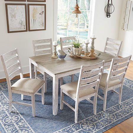 Signature Design By Ashley Skempton 7 Pieces Table Et Chaises Taille Unique Plusieurs Coule En 2020 Table Et Chaises Chaises De Table A Manger Belles Salles A Manger