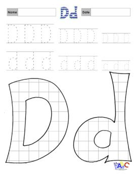Printing And Coloring Letter Dd Worksheets Pattern Worksheet
