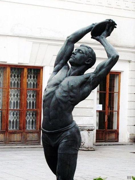 Matvey Manizer Discobolus SCULPTURE Pinterest - Thought provoking burning man sculpture shows inner children trapped inside adult bodies