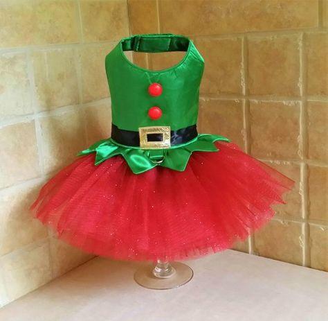 Santa and Elf Dog Tutu Dress ALL SIZES Sewing Pattern PDF | Etsy
