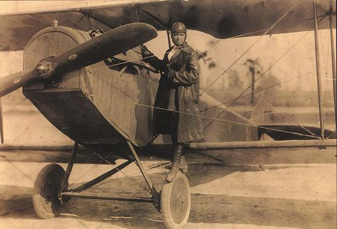 "First African-American Female Aviator  [b. 1892 - d. 1926]    Bessie Coleman, the daughter of a poor, southern, African American family, became one of the most famous women and African Americans in aviation history. ""Brave Bessie"" or ""Queen Bess,"" as she became known, faced the double difficulties of racial and gender discrimination in early 20th-century America but overcame such challenges to become the first African American woman to earn a pilot's license. Coleman not only thrilled audienc..."
