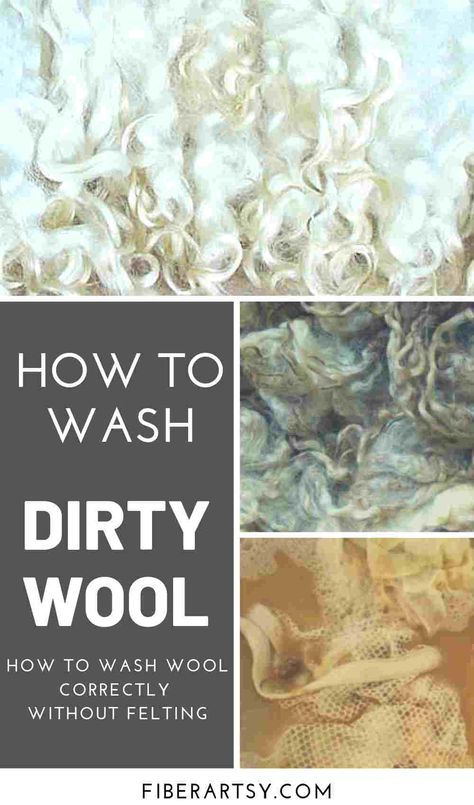 How to Wash Wool and Fiber without felting it. Washing sheep wool can be tricky but I'll show you how to do it correctly. Spinning Wool, Hand Spinning, Spinning Wheels, Needle Felted, Wet Felting, Shibori, Needle Felting Tutorials, Sheep Farm, Lava
