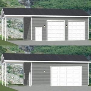 30x24 2 Car Garage 720 Sq Ft 12ft Walls Pdf Floor Etsy In 2020 Car Garage Roof Framing Vinyl Siding