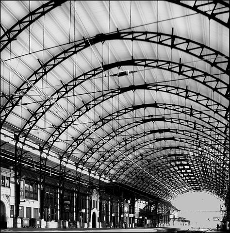 Haarlem Station, the Netherlands. On 20 September 1839 the first train service in the Netherlands started between Haarlem and Amsterdam.