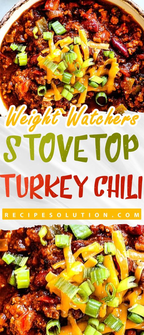 Stovetop Turkey Chili Recipe - Recipe SOLUTION -7 SMARTPOINTS -   The road to healthy eating is easy with these Healthicious recipes, makes it easy and enjoyable to eat well and feel great than ever before to stay on track with your HEALTHY ( including breakfasts, lunches, dinners and snacks, nutrition advice you can trust, shopping tips) goals.  #stovetop #turkey #chili #RecipeSOLUTION #HealthyMeals #Recipes #mealplanning #US #Canada #UnitedStates #UK #Australia #marshalislands #Brazil #switzer