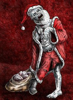 Horror Weihnachtsbilder.Zombie Santa Happy Horror Days Zombie Christmas Scary Ghost