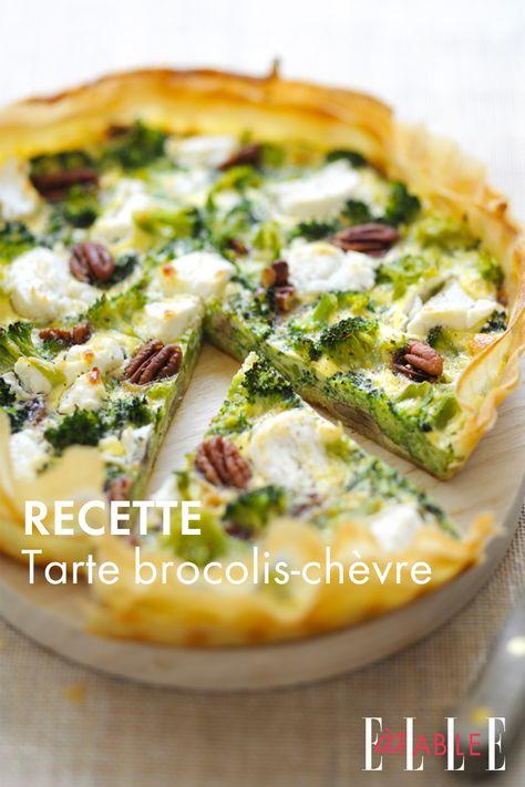 Recette : Tarte brocolis-chèvre