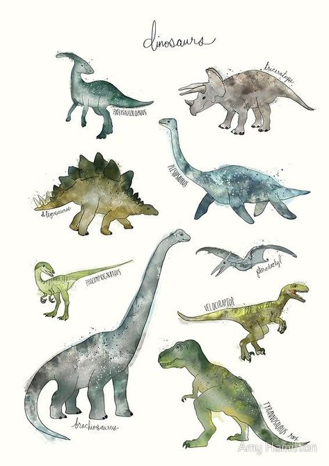 Photo of 'Dinosaurs' Spiral Notebook by Amy Hamilton