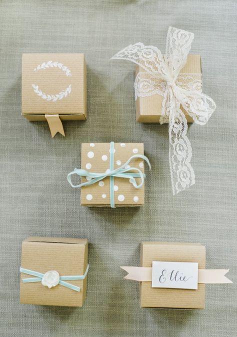 DIY Wedding Favor Boxes 5 Ways