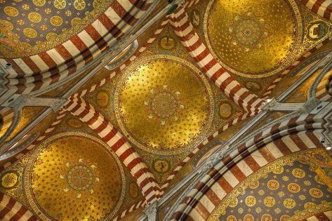 Photographic Print: Interior of Basilica of Notre Dame De La Garde by Jon Hicks :
