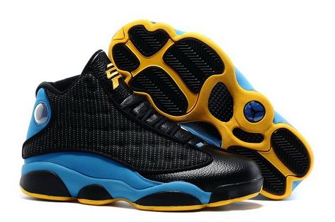 buy popular f540a 469aa Latest Air Jordan 13 XIII CP3 Black Orion Blue Sunstone Chris Paul Hornets  Discount Sale