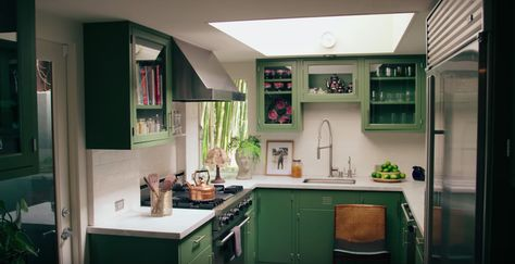 Dakota Johnson opened her door to Architectural Digest and fans are loving a look inside her green, light and wooden LA home. Dakota Johnson, House Doctor, Johnson House, Inside Home, Aesthetic Rooms, Green Kitchen, Architectural Digest, Home Decor Kitchen, Minimalist Home