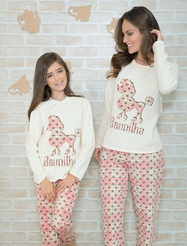 61617dcb922747 Recco - Kit Pijama tal mãe tal filha | sleepwear♀♡ em 2019 ...