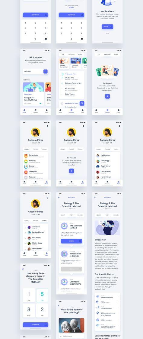 Estudio - Educational Mobile App UI Kit