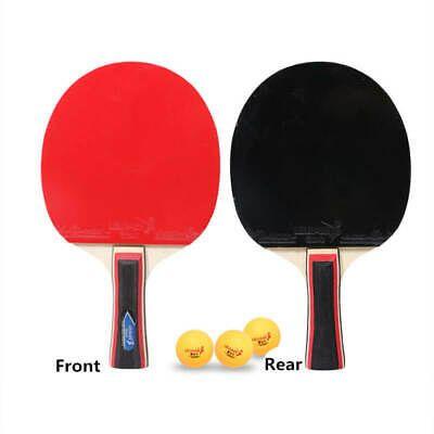Advertisement Ebay 1pair Table Tennis Ping Pong 2x Paddle 3x Ball Horizontal Racket Long Handle Bat Table Tennis Long Handles Ping Pong