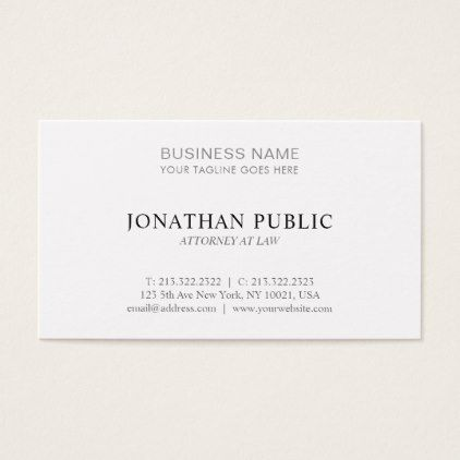 Attorney At Law Office Lawyer Minimalistic Trendy Business Card