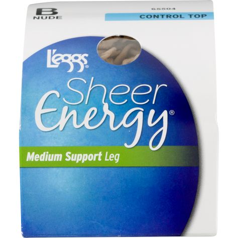 f9731ff79 Hanes L eggs Sheer Energy Control Top Medium Support Pantyhose
