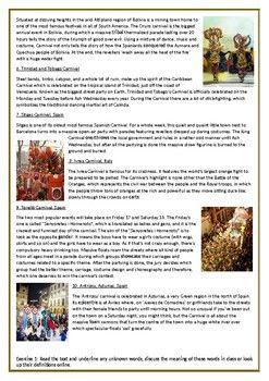 Carnival Celebrations Around the World - Reading