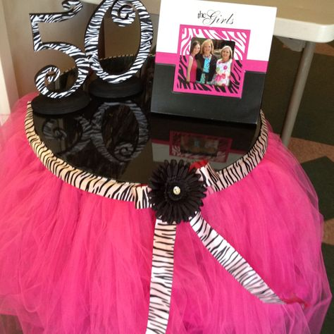 TuTu table made for 50 and Fabulous party.