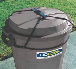 Lid Lock To Prevent Raccoons And Other Nocturnal Raiders From