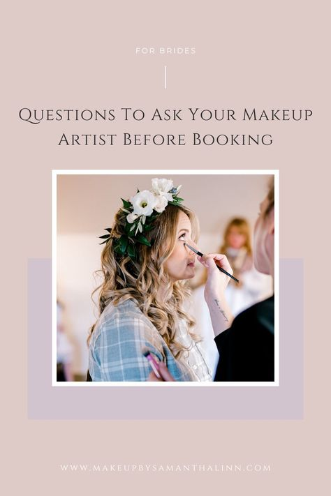 Questions to Ask Your Makeup Artist Before Booking | Wedding Planning | MakeUp By Samantha Linn | Are you planning your dream wedding day and totally stumped on what to ask your potential makeup artist?! Let me help! Read this for my SIX top questions to ask before booking!! #njbride #njwedding #newjerseybride #newjerseywedding #jerseywedding #jerseyshorewedding #jerseybride #jerseyshorebride