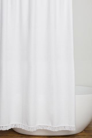 White Lisbon Shower Curtain 150 Caro Home White Shower Curtain