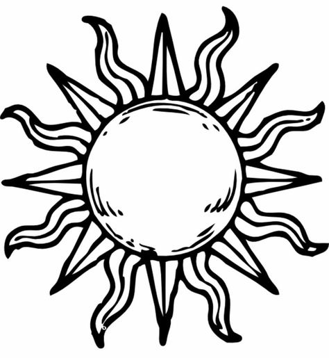 Cool Sun Tattoo Design Idea