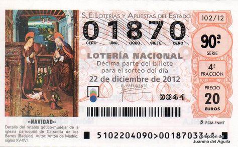 Comprobar Decimo Loteria Navidad 2012 Decimo De Loteria De Navidad Del Ano 2012 Navidad Detalle