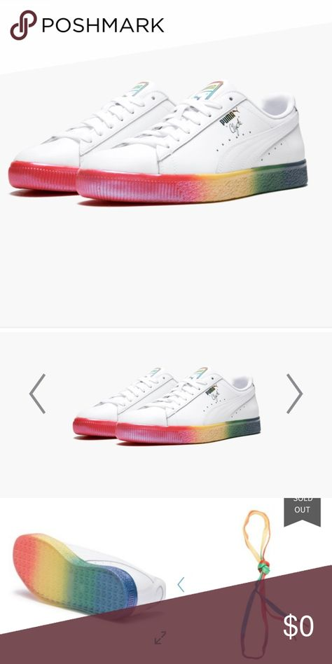 huge inventory f4be9 cb661 🎈Coming Soon Puma Clyde Pride Edition, NWT, Sz 7 These ...