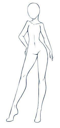 Um Otimo Modelo Prara Desenhar Manequins Desenho Desenhando