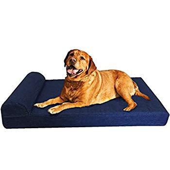 Dogbed4less Premium Extra Large Head Rest Orthopedic Cooling Memory Foam Dog Bed With Waterproof Internal Dog Bed Large Waterproof Dog Bed Memory Foam Dog Bed