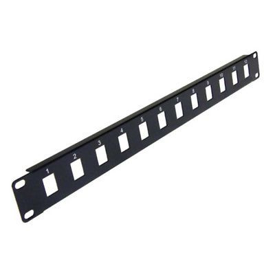 12 Port Keystone Jack Blank Patch Panel Plate Cat5e Cat6 Rj45 19 Rack Mount 1u 649722501565 Ebay Patch Panel Patch Panels Rj45