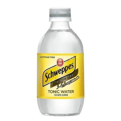 schweppes tonic diet water glass bottle