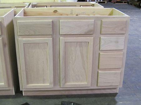 Unfinished Bathroom Vanities Kitchen Cabinets Home Depot Oak