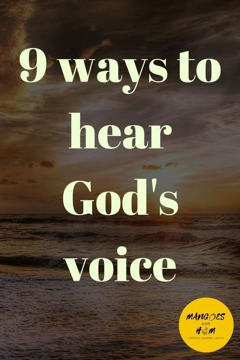 God is always speakin to us, we just dont always recognise it. Here are 9 ways God might be talking to you right now! Hear the voice of God and life a life for Jesus! #God #Jesus #Bible