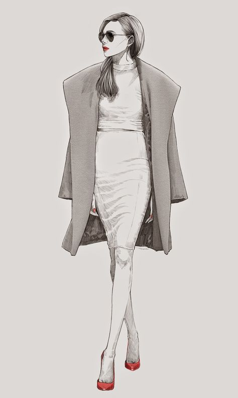 Fashion Drawing Alex Tang Wei Hao, beautiful female fashion illustration - Kai Fine Art is an art website, shows painting and illustration works all over the world.