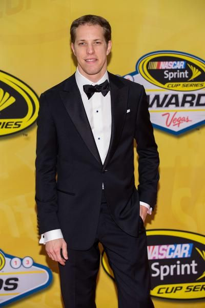 Brad Keselowski arrives at the NASCAR Sprint Cup Series auto racing awards ceremony. (Eric Jamison/AP)