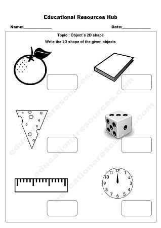 Object Shapes Math Worksheet Senior Kindergarten Math Worksheet Shapes Worksheets Worksheets