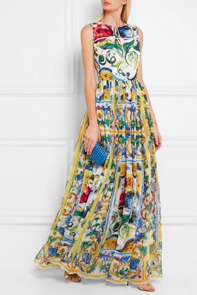 Dolce Gabbana Abiti Abiti Lunghi Vestiti Di Cotone