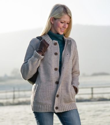 Zipped & Button Cardigan | Women's & Men's | British Wool | Wool ...