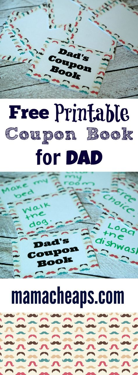 List Of Pinterest Gifts For Dad From Kids Father Free Printable