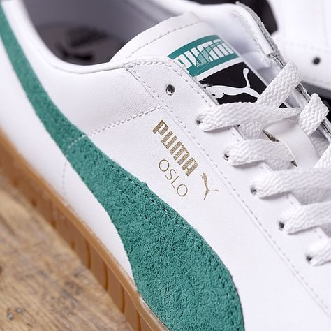 new product bf6e4 f45b7 And here is a close-up of the  PUMAOslo  boxpark  PUMAtwentyone  PUMA   classic  style  green  Oslo -  puma