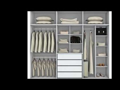 100 Ideas Closets Guarda Ropas Modernos Pequenos Y Economicos Youtube Diseno De Closet Armario Moderno Armario De Ropa