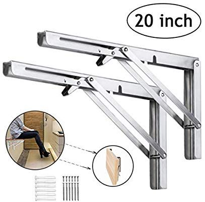 Folding Shelf Brackets 20 Inch Heavy Duty Stainless Steel