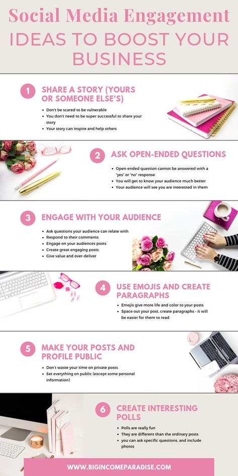 If you're using Social Media to build your business, then you need to learn how to get traffic from it. Traffic means engagement on your posts and videos. I put together 25 different Social Media engagement ideas that will help you skyrocket your engageme